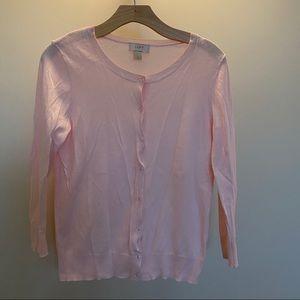 AnnTaylor LOFT factory sweater cardigan pink small